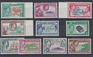 Pitcairn Islands Stamps 1940-51 KGVI definitives SG1-8 MVLH some marginal tabs