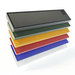 BAUHELD® Verglasungsklötze Kunststoff 100x24 Montage Unterlegplatten 300 600 Set