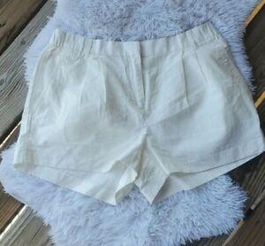 Gap Womens size 12 Shorts Linen Blend ivory Elastic Back Waist