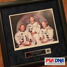 Apollo 11 Crew Signed * Psa/Dna Gem 10/10 Uninscribed autograph Nasa Lithograph