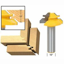 45 Degree Glue Joint 1/2''Shank Router Bit Lock Miter Cutter