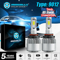 IRONWALLS 9012 HIR2 2000W 300000LM LED Headlight Kit High Low Beam Bulbs 6000K