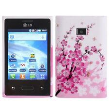 TPU Case Schutzhülle für LG E400 Optimus L3 Blütenzweig rosa weiß Hülle Cover