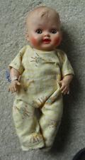 "Vintage 1950s Vinyl Baby Boy Character Doll 10"" Tall"