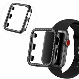 For Apple Watch iWatch Series 6 SE 5 4 3 38/40/42/44mm Carbon Fibre Case Cover