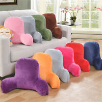 Plush Big Backrest Reading Rest Pillow Lumbar Support Chair Cushion with Arms US