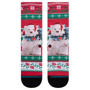 Stance NEW Kids Pierre Polar Socks - Red BNWT