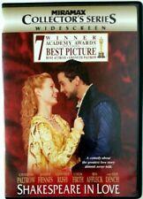 Shakespeare in Love (Dvd, 1999, Collectors Series) Widescreen