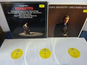 NM VERDI - RIGOLETTO 3LP BOX, Vienna P/O, Giulini, Domingo, DG 2740 225