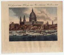 London-St Paul's Cathedral-St.-Pauls-Kathedrale-England-Bertuch-Kupferstich 1800