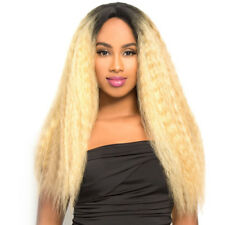 LH-NATURAL - THE WIG BRAZILIAN HUMAN HAIR BLEND INVISIBLE DEEP PART LACE FRONT