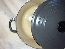 Le Creuset Signature 7.25 Qt Enameled Cast Iron Round Casserole Oven Granite NEW