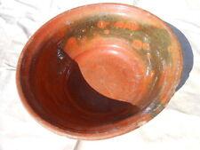 Sehr Alte große Tonschüssel,Hafner Teigschüssel, bäuerliche Keramik,D= 37 cm