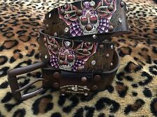New Cristhian Audigien  Brown Rhinestones Belt 36