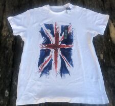 Men's PRIMARK Stylized BRITISH UNION JACK UK FLAG T-SHIRT - Large New with Tags