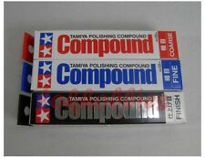 Tamiya Modelo Pulido Compuesto Combo Set Acabado Fino Grueso 87068 87069 87070