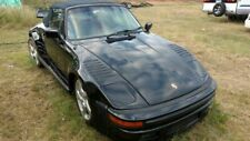 1984 BLACK PORSCHE 911 SUPER CARRERA CABRIOLET TURBO WIDE BODY FLACHBAU