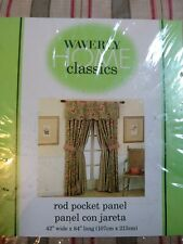 Waverly home classics Rod Pocket Panel curtains ( pair)