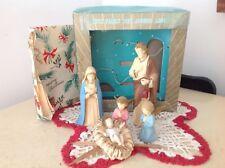 Vintage Christmas Holy Family Nativity Set, Hong Kong