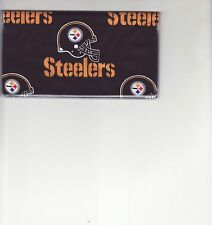 PITTSBURGH STEELERS CHECKBOOK COVER FABRIC FOOTBALL STELLNATION NEW