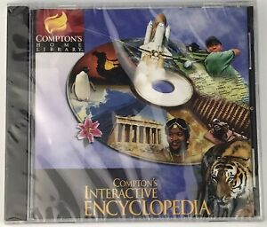 Compton's Home Library Interactive Encyclopedia 1998 CD-ROM TLC Software