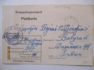 Ukraine Stryj bei Kiew, kriegsgefangenenpost POW Mail 1943 nach Serbien