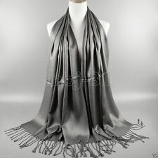 New Women's Fashion Gray 100% Cashmere Pashmina Soft Warm Wrap Shawl Scarf