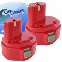 2x NEW 3.3AH 3300 mAh 14.4V Volt Ni-MH Battery for MAKITA 1433 1434 1435 UpStart