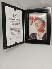 Collector's Classics Elvis Presley Issue of TV Guide With COA 9-8-56 Reissue