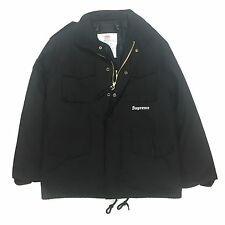 NWT Supreme x Slayer Men's Black M-65 Eagle Patch Field Jacket Parka S AUTHENTIC