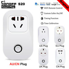 Sonoff S20 AU Plug WIFI Smart APP Remote Control Timer Socket  Home Automation