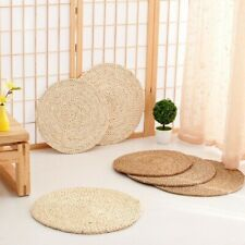 Eco Corn Husk Cattail Hassock Round Pad Mat Tatami Floor Chair Seat Cushion