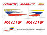 PEUGEOT 106 S2 RALLYE REPRODUCTION DECALS STICKERS (DOORS, WINGS, BONNET, REAR)