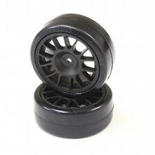 NEW Kyosho FAT305BK Drift Tire Fr 14-Spoke/BLK/24mm 2 FREE US SHIP
