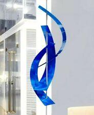MASSIVE Blue Sculpture - Modern Metal Art Abstract Statue  ORIGINAL Jon Allen