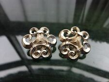 Vintage 1980's 90's Signed Dolce Vita Silver Tone Ornate Clip On Earrings