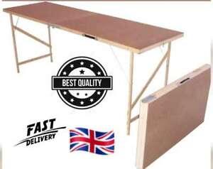 Wooden Hardboard Folding Wallpaper Paste Pasting Table