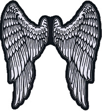"""LT30159 Lethal Threat Embroidered Angel Wings Patch 11 1/2"""" x 11"""""""