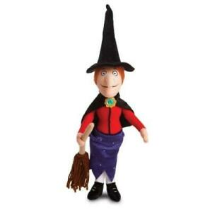 "ROOM ON THE BROOM WITCH WITH BROOM 15"" PLUSH SOFT TOY JULIA DONALDSON GREAT GIFT"