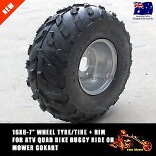 "16 X 8-7"" inch Front Rear Back Wheel Rim Tyre Tire Quad Bike ATV Buggy Gokart"