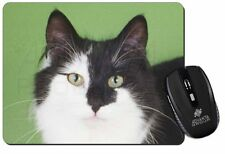 Black and White Cats Face Computer Mouse Mat Christmas Gift Idea, AC-198M