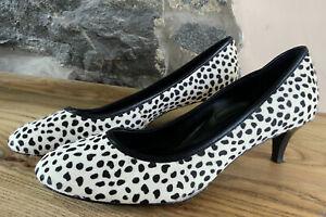 Women's Kitten Heel Leopard Print Court Shoes By Jones the Bootmaker size 6UK 39