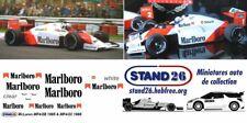 Decals Marlboro McLaren MP4/2C Prost / Rosberg 1986 1/43e