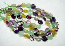 Grade AAA Natural Multi-Color Fluorite Round Briolettes, 10mm, 15.5 inch strand