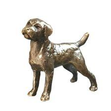 More details for border terrier dog bronze miniature sculpture - butler & peach 2072