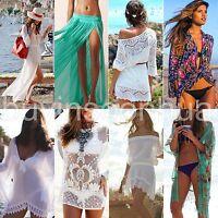 Sexy Womens Beach Wear Swimwear Bikini Cover Up Summer Kaftan Sarong Shirt Dress