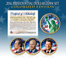 2016 US MINT COLORIZED PRESIDENTIAL $1 DOLLAR COINS - Final Full Set of 3