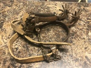 Antique 1880's Cowboy Spurs from old Colorado Ranch made by Buermann
