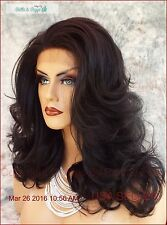 Lace Front Wig HAND TIED FRONT COLOR 1B SOFT SEXY CURLS  FAST SHIP US SELLER 442