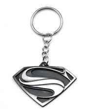 SUPER HERO SILVER SUPERMAN LEGO METAL KEYCHAIN KEYRING SCHOOL